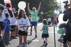 Dana Pounds completes a 5k in September, 2014
